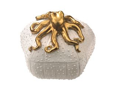 octopus figure on top of coral box