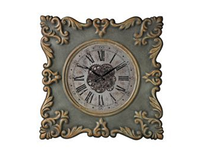 classic green wall clock