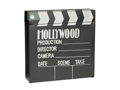 wooden hollywood productoin sign