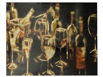champagne glasses print