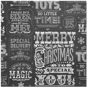 Chalkboard inspired vintage wrapping paper