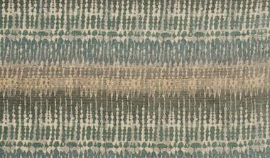 beige and aqua striped fabric swatch