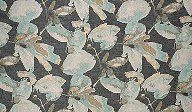 modern flower print colored fabric swatch