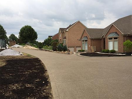aggregate concrete driveway