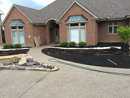 landscaping progress