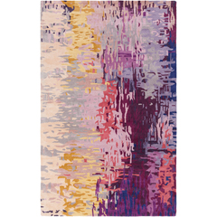 purple pink and yellow area rug