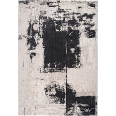 black and gray abstract area rug