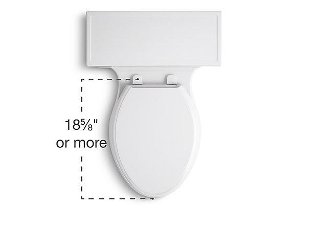 compact elongated toilet bowl