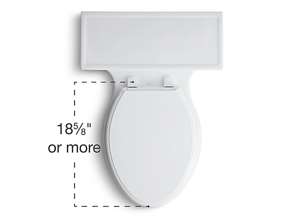 elongated toilet bowl