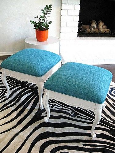 repurposed chairs to ottomans