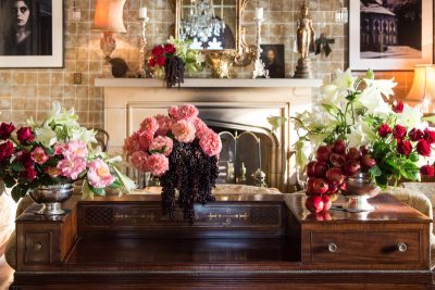 flowers on a desk
