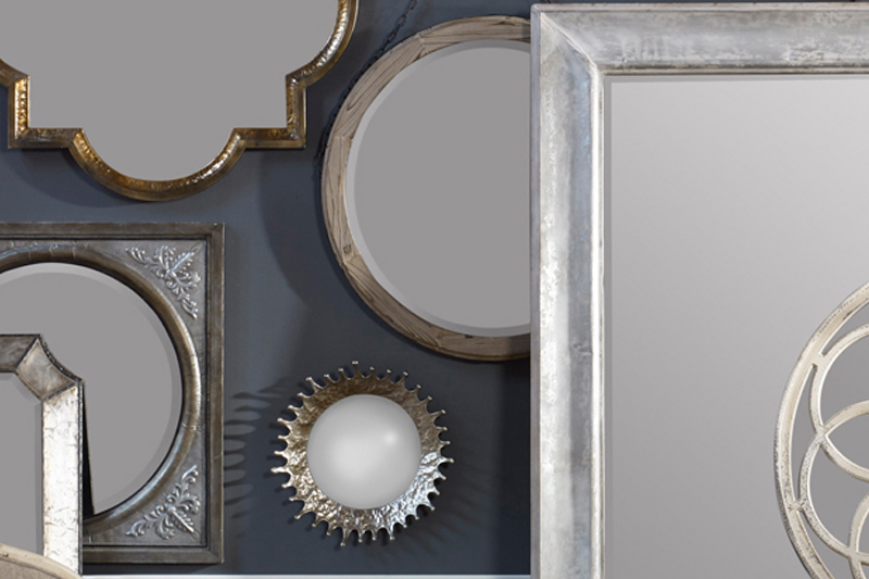 collage of decorative mirrors