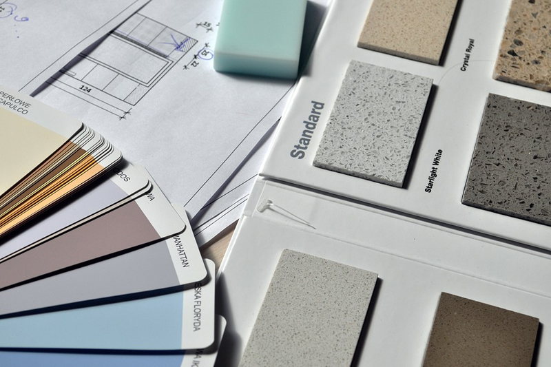 interior design paint swatches and countertop choices