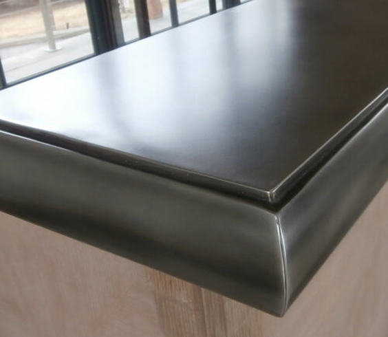 pewter countertop