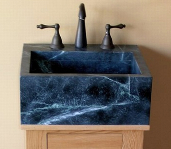 blue soapstone sink