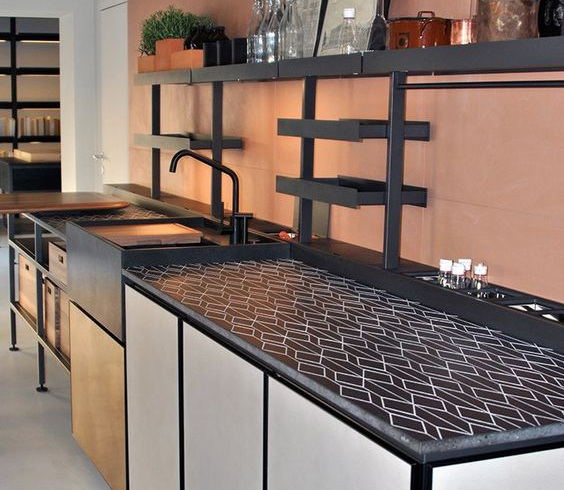 contemporary tile countertop