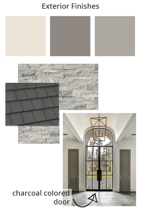 exterior finish colors and stone